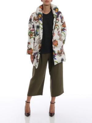 ETRO: cappotti imbottiti online - Piumino in tessuto tecnico con stampa lemuri