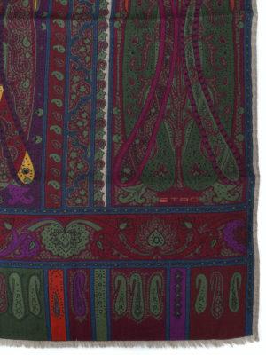 ETRO: sciarpe e foulard online - Sciarpa multicolore Shaal Nur
