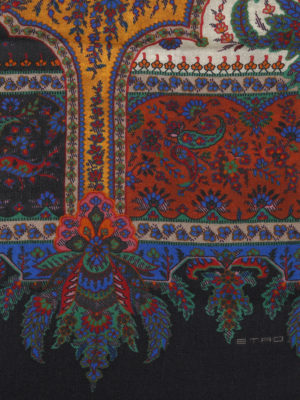 ETRO: sciarpe e foulard online - Sciarpa Shaal-Nur in lana e seta Paisley