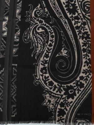 ETRO: sciarpe e foulard online - Sciarpa in lana e yack Shaal Nur