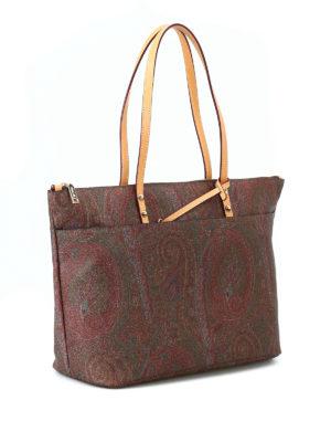 ETRO: shopper online - Shopper in classico tessuto Paisley