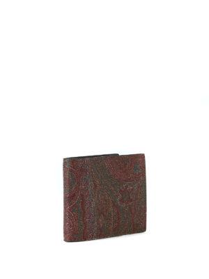 ETRO: portafogli online - Portafoglio marrone in tessuto paisley