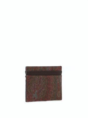 ETRO: portafogli online - Portacarte marrone in tessuto paisley