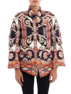 Etro: padded jackets online - Paisley pattern padded jacket