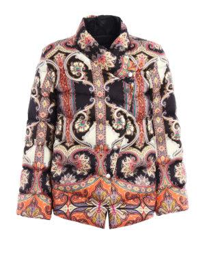 Etro: padded jackets - Paisley pattern padded jacket