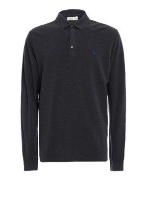 Etro: polo shirts - Cotton pique long sleeved polo