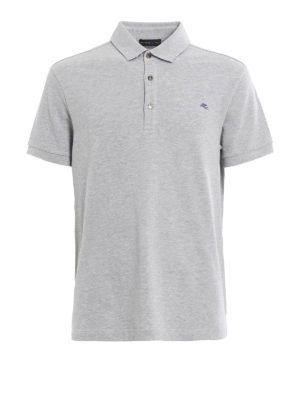 Etro: polo shirts - Embroidered logo polo shirt