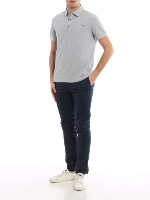 Etro: polo shirts online - Embroidered logo polo shirt