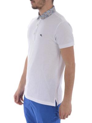 Etro: polo shirts online - Paisley poplin b/d collar polo