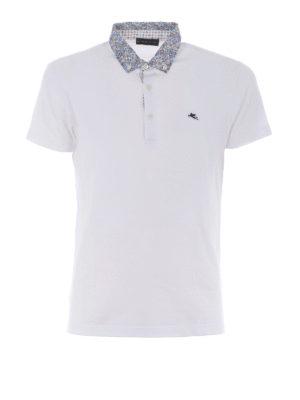 Etro: polo shirts - Paisley poplin b/d collar polo