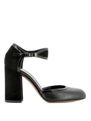 Etro: sandals - Embossed leather sandals