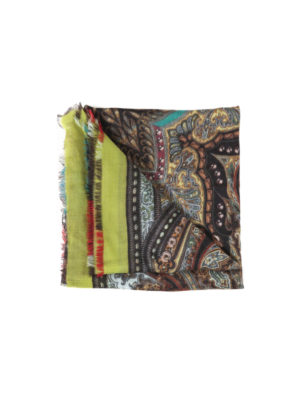 Etro: scarves - Cashmere printed scarf