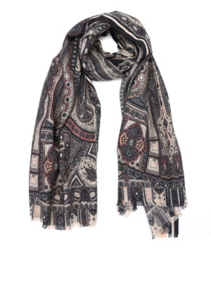 Etro: scarves - Delhy cashmere and silk scarf