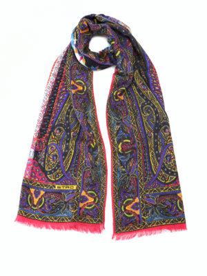ETRO: sciarpe e foulard - Sciarpa Delhy in seta e lana