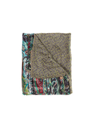 Etro: scarves - Double face printed silk scarf