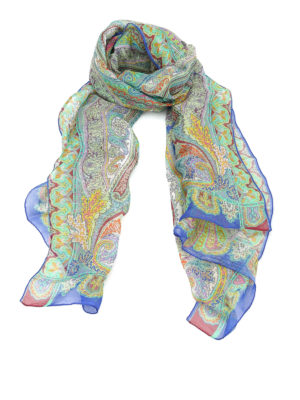 Etro: scarves - Linen and silk blend scarf