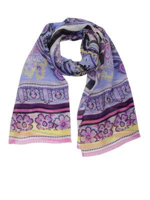 Etro: scarves - Linen blend scarf