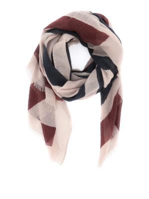 ETRO: scarves - Maxi logo jacquard cashmere scarf