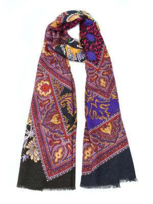 ETRO: sciarpe e foulard - Sciarpa modal e cashmere Shaal Nur