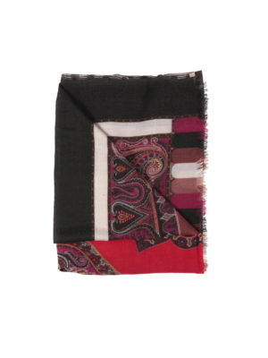 Etro: scarves - Multiprint wool scarf