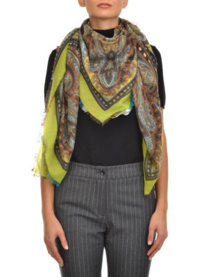 Etro: scarves online - Cashmere printed scarf