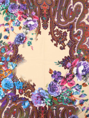 Etro: scarves online - Dehly silk and wool scarf