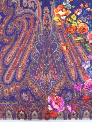 Etro: scarves online - Floral silk wool scarf