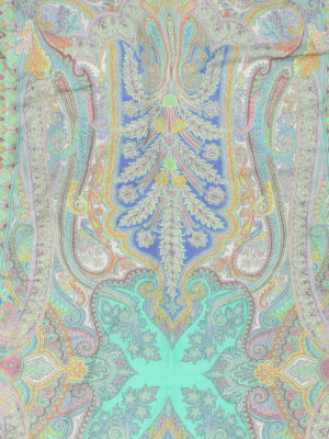 Etro: scarves online - Linen and silk blend scarf