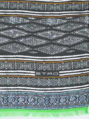 Etro: scarves online - Paisley print check scarf