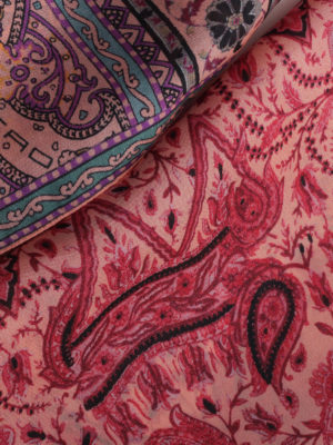 Etro: scarves online - Paisley print silk scarf