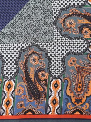 Etro: scarves online - Paisley printed silk pocket square