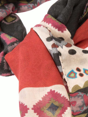 Etro: scarves online - Patterned modal and cashmere scarf