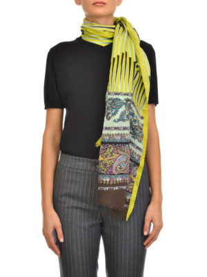 Etro: scarves online - Wool and silk printed scarf