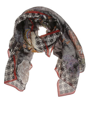 ETRO: scarves - Paisley Island linen and silk scarf