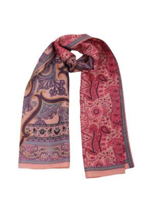 Etro: scarves - Paisley print silk scarf