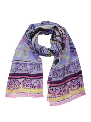 Etro: scarves - Patterned silk scarf