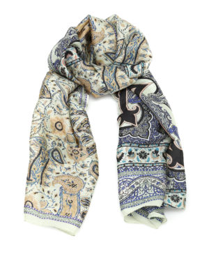 Etro: scarves - Pure silk scarf