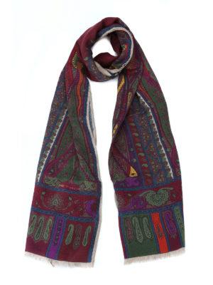 ETRO: sciarpe e foulard - Sciarpa multicolore Shaal Nur