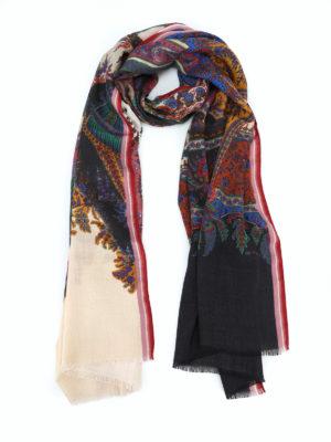ETRO: sciarpe e foulard - Sciarpa Shaal-Nur in lana e seta Paisley