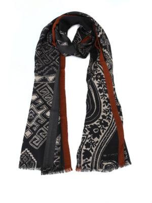 ETRO: sciarpe e foulard - Sciarpa in lana e yack Shaal Nur