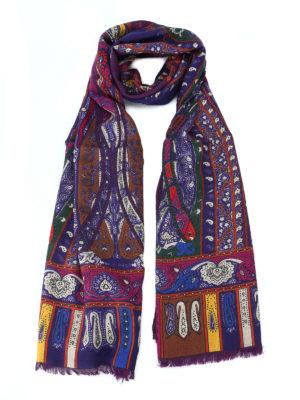 ETRO: sciarpe e foulard - Sciarpa Shaal Nur in lana e yack