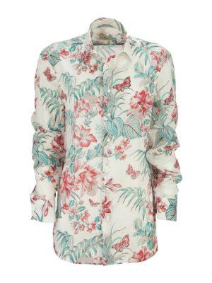 ETRO: shirts - Floral printed cotton shirt