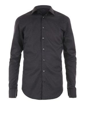 Etro: shirts - Houndstooth cotton shirt