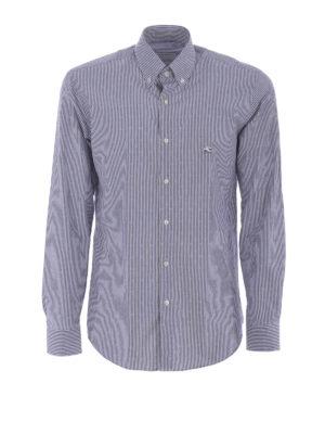 Etro: shirts - Jacquard cotton b/d shirt