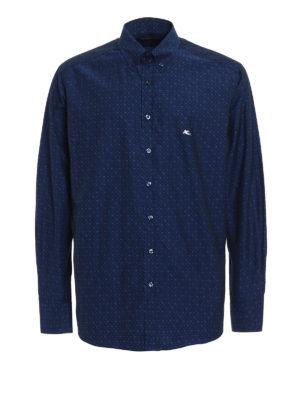 Etro: shirts - Jacquard cotton shirt