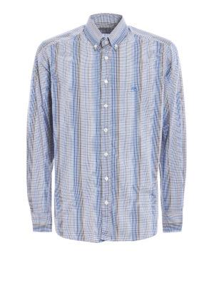 Etro: shirts - Micro check cotton shirt