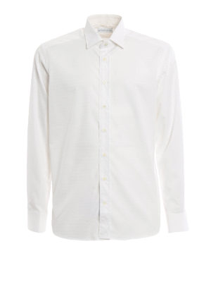 Etro: shirts - Micro pattern cotton shirt