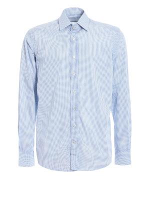 Etro: shirts - Micro patterned cotton shirt