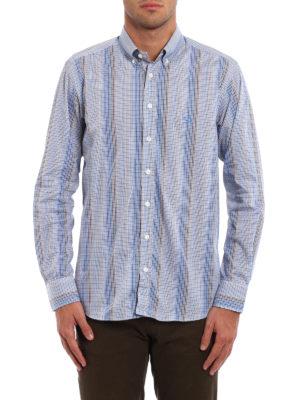 Etro: shirts online - Micro check cotton shirt