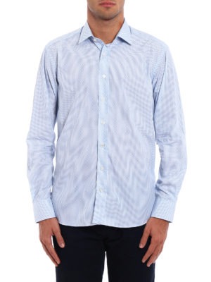Etro: shirts online - Micro patterned cotton shirt